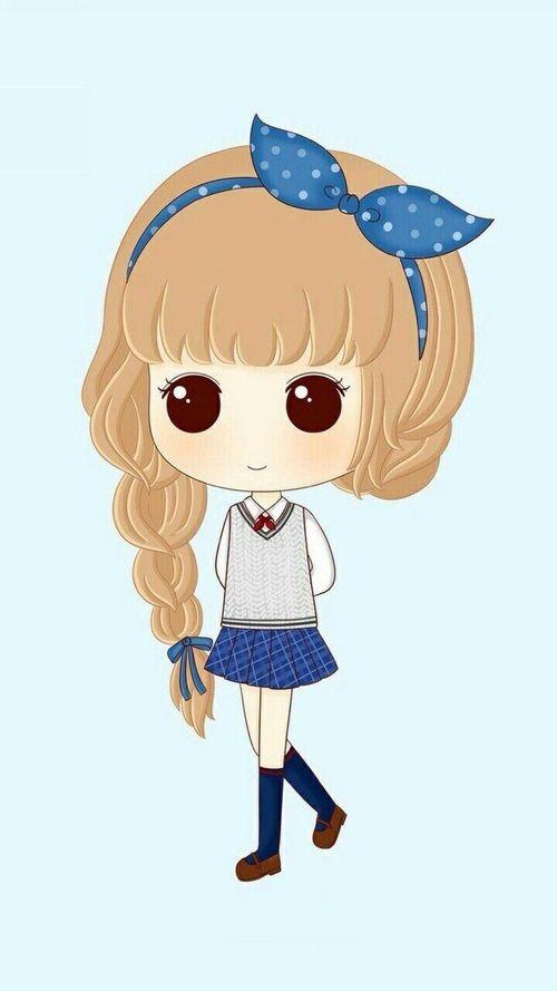 ร ปภาพ رمزيات بنات Cute Cartoon Chibi Girl Cute Love Cartoons