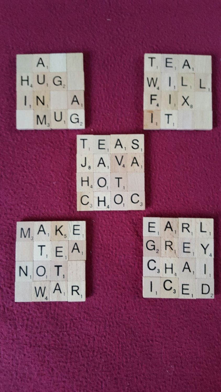 Scrabble Coasters by on Etsy Scrabble