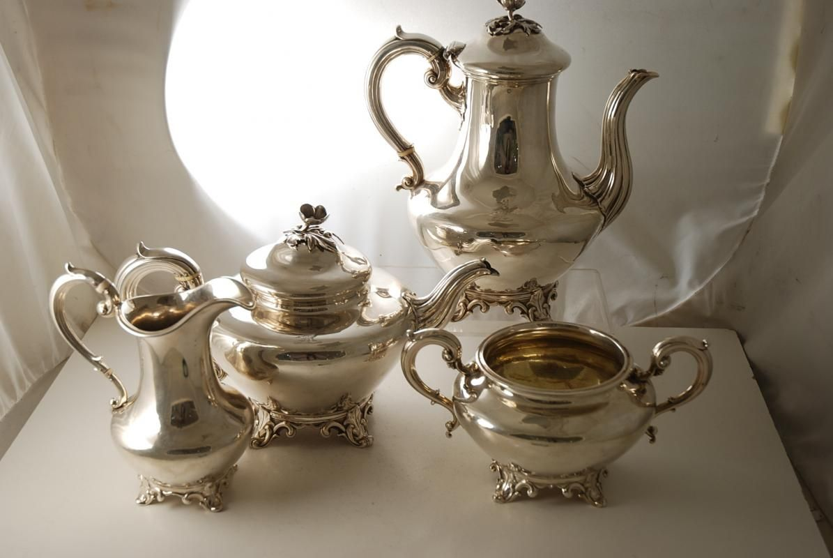 Image detail for -Victorian Silver Tea Set