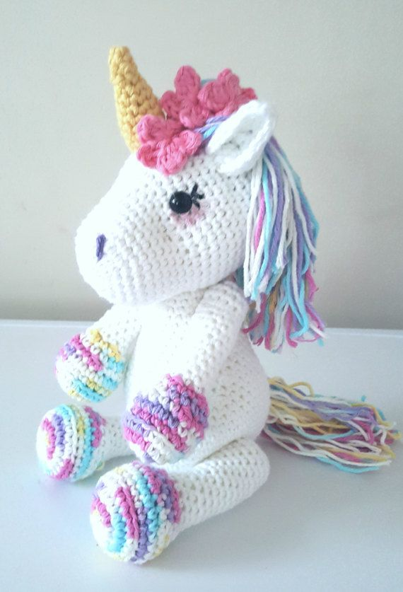 Lavender Unicorn Crochet Pattern ONLY not a finished product – Amigurumi PDF instant download