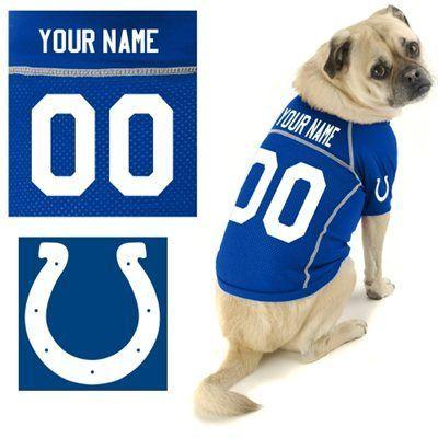bd6339bc Hunter Indianapolis Colts Custom Pet Jersey ...