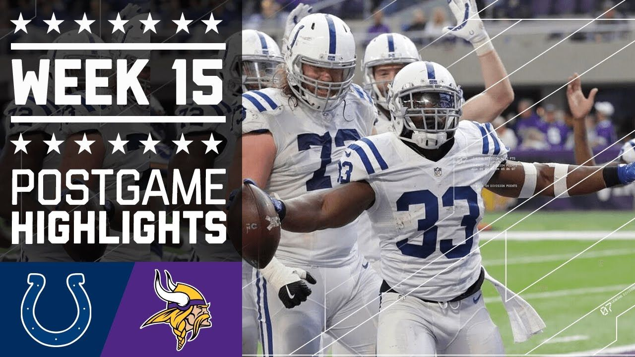 Colts vs. Vikings NFL Week 15 Game Highlights Nfl week