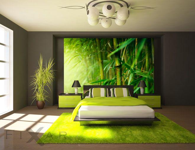 Saftig grüner bambus fototapete für schlafzimmer schlafzimmer ...