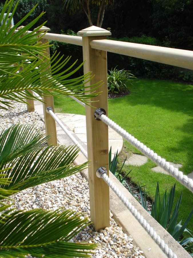 Rope Fixings Deck Ideas Pinterest Fence Options Decking - Garden decking rope
