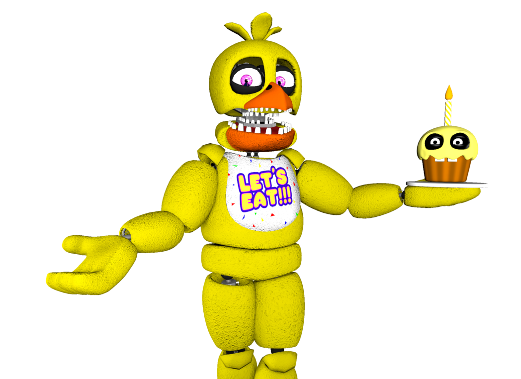 Unwithered Chica the Chicken [Render] (SFM) by Arrancon on