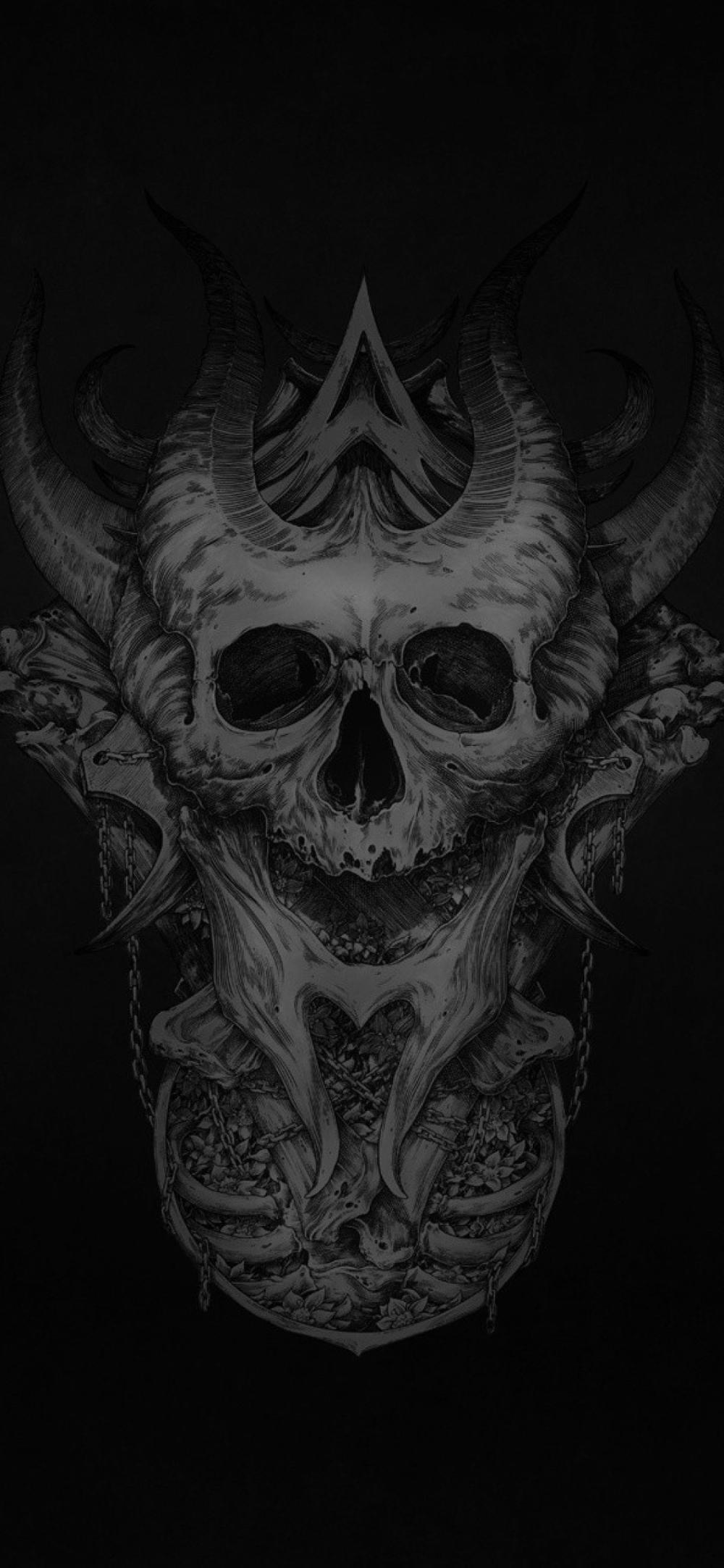 Dark Skull Skull Wallpaper Black Skulls Wallpaper Hd Skull Wallpapers