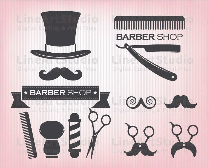 SVG Barber Shop Theme - Svg Barber Files - Hairstylist Monogram - confirmation email templatebaby chart