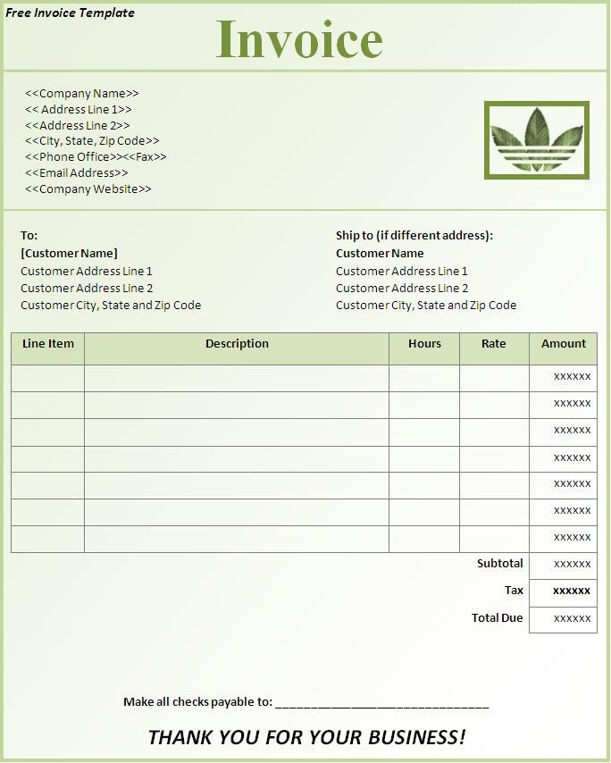 downloadable invoice forms