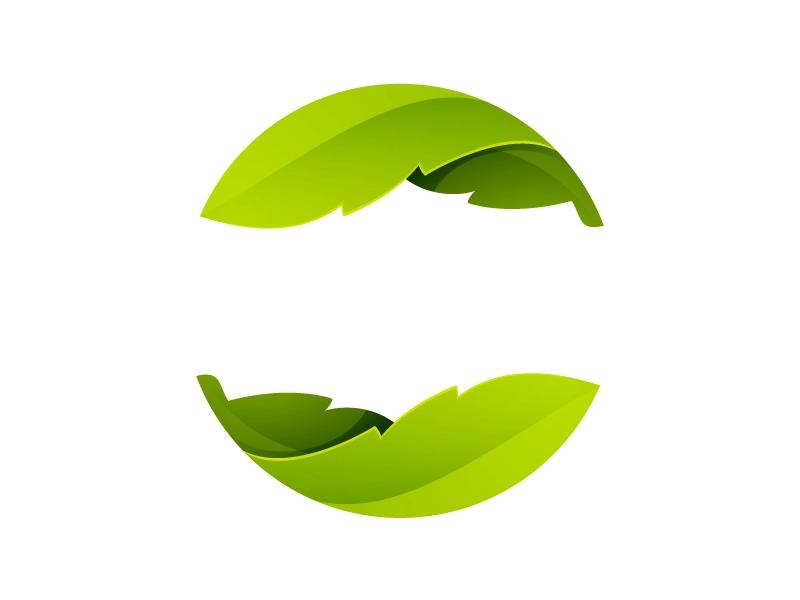 Green Leaves Icon Environmental Logo Design Eco Logo Design Organic Logo Design