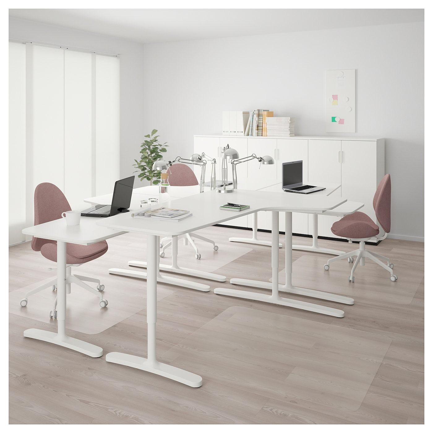 Bekant White Desk Combination 320x220 Cm Ikea Cheap Office Furniture Ikea Bekant Ikea Bekant Desk
