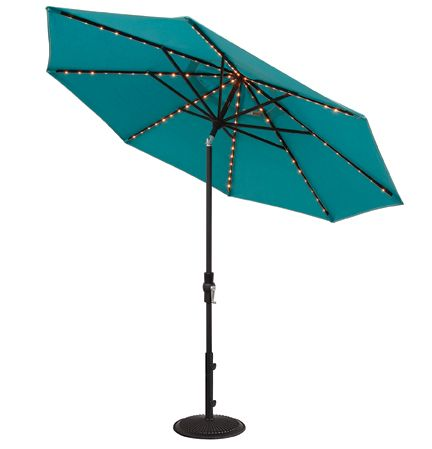 Merveilleux NEW Starlight Collar Tilt Market Umbrella By Treasure Garden