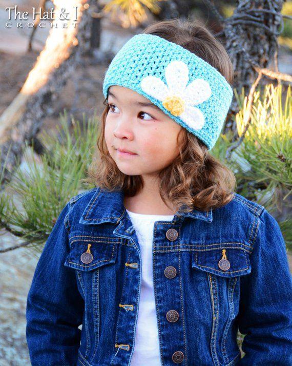 Crochet PATTERN - Miss Daisy - crochet headband pattern, head wrap ...