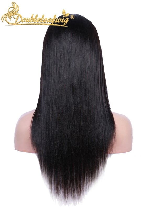 Doubleleawig Light Yaki Brazilian Virgin Human Hair Pre-plucked 6