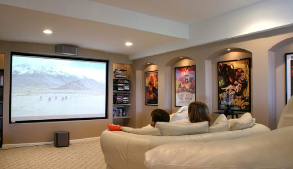 How To Decorate Using Posters Media Room Design Home Theater Design Home Theater Rooms