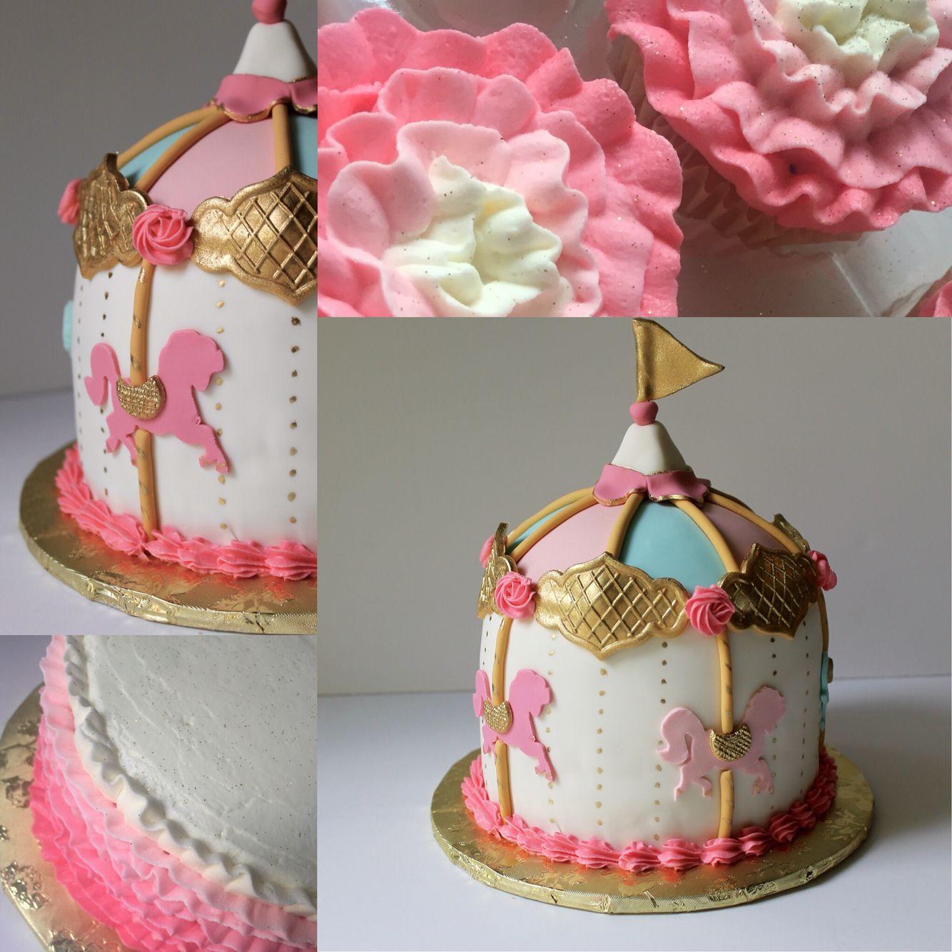 Carousel smash cake set smash cake girl carousel cake