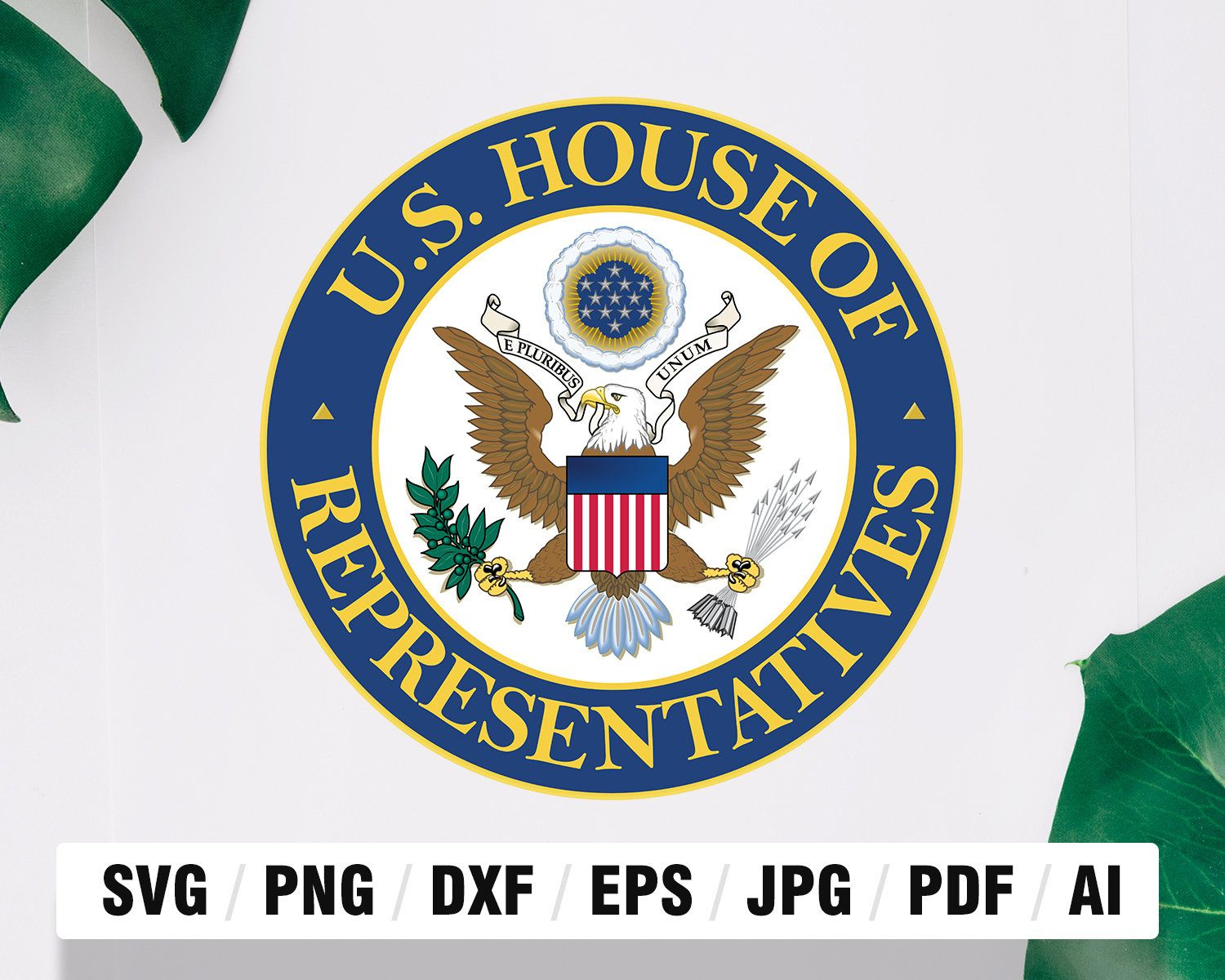 Seal Of The United States House Of Representatives Design Etsy Software Design United States House Of Representatives Silhouette Studio