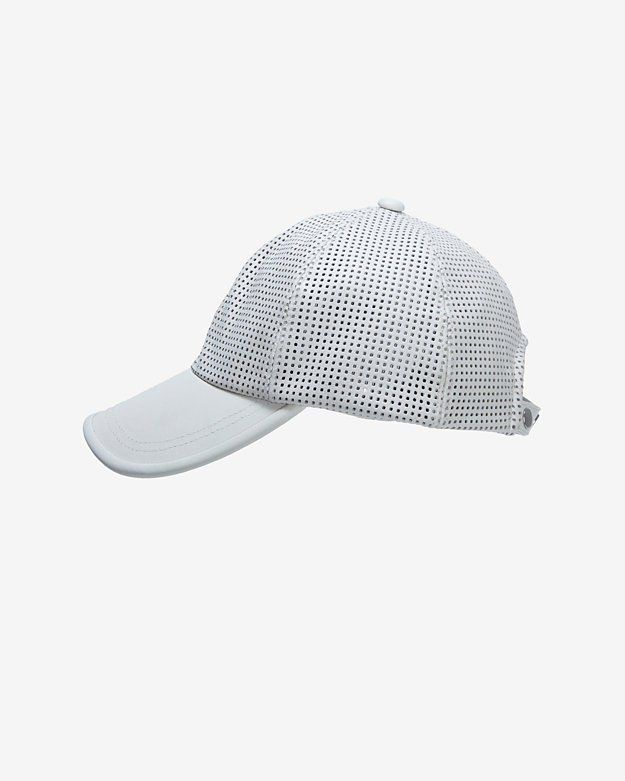 Pin for Later: Can It Be True? Our Summer Must Haves Are Here! Intermix Perforated Leather Baseball Cap