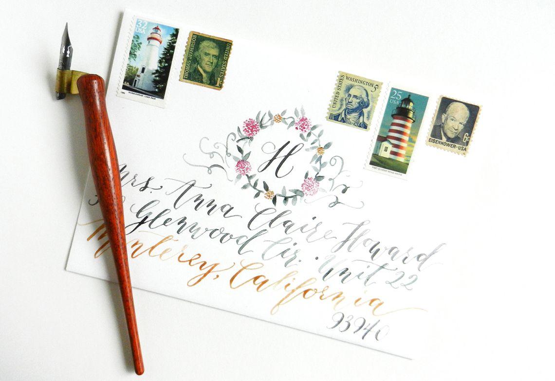 Brushpen alphabet modern calligraphy font handwritten letters