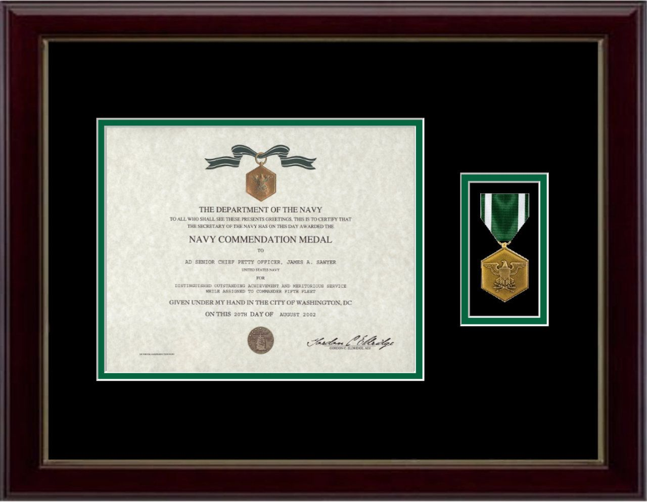 Navy/Marine Commendation Certificate Frame | Pinterest