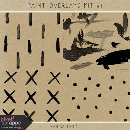 Paint Overlays Kit #1 | digital scrapbooking