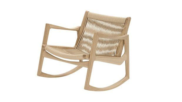 Euvira rocking chair by the Brazilian designer Jader Almeida