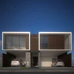 Qué Son Las Casas Adosadas Diseños Y Ventajas Homify Casa Adosada Casas Casas Estilo Minimalista