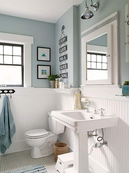 to reinforce the bath's period style the homeowners added