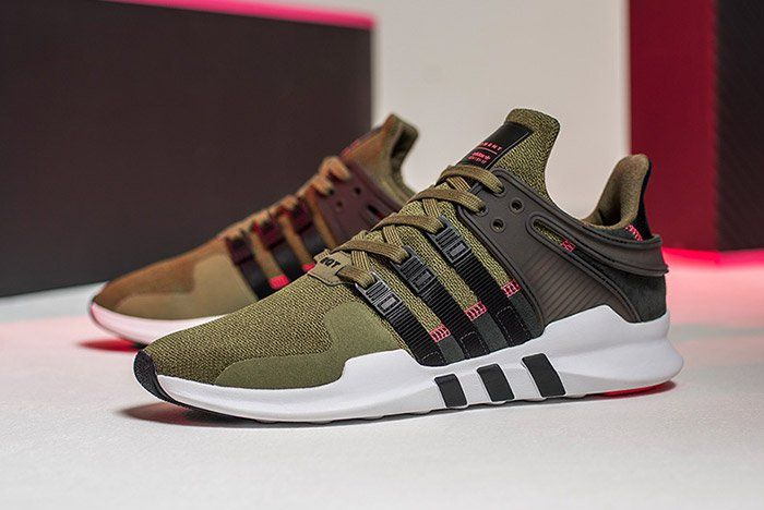 new style 076e2 576b6 ... ADV Sneaker Mens olive green white 9-12 Who Managed To Pick Up A Pair  Of The adidas EQT Support 9317 White Turbo Red ...