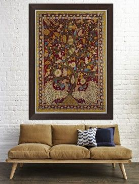Kalamkari Cotton Wall Art Available At Jaypore Painting Frame Wallart Fabric Beautiful Elegant