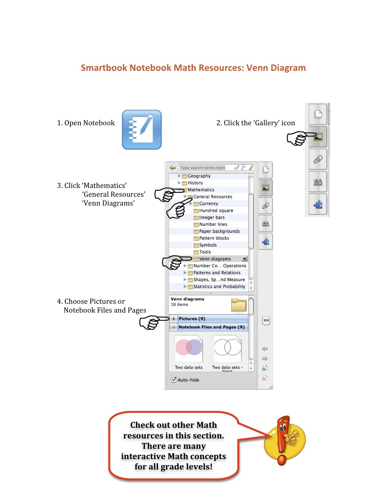 Smartboard Notebook Resources For Math Venn Diagrams Are