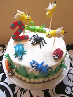 Astounding Bug Cake Bug Birthday Cakes Funny Birthday Cards Online Overcheapnameinfo