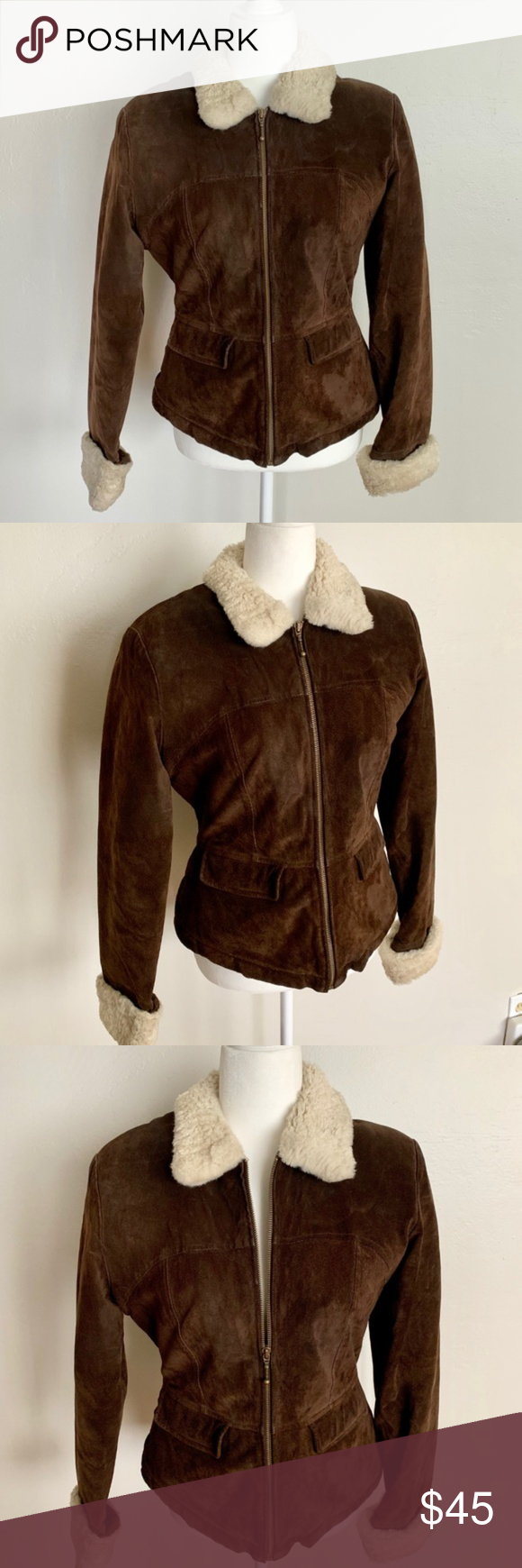 Wilsons Maxima Leather Faux Wool Lined Zip Jacket in 2020