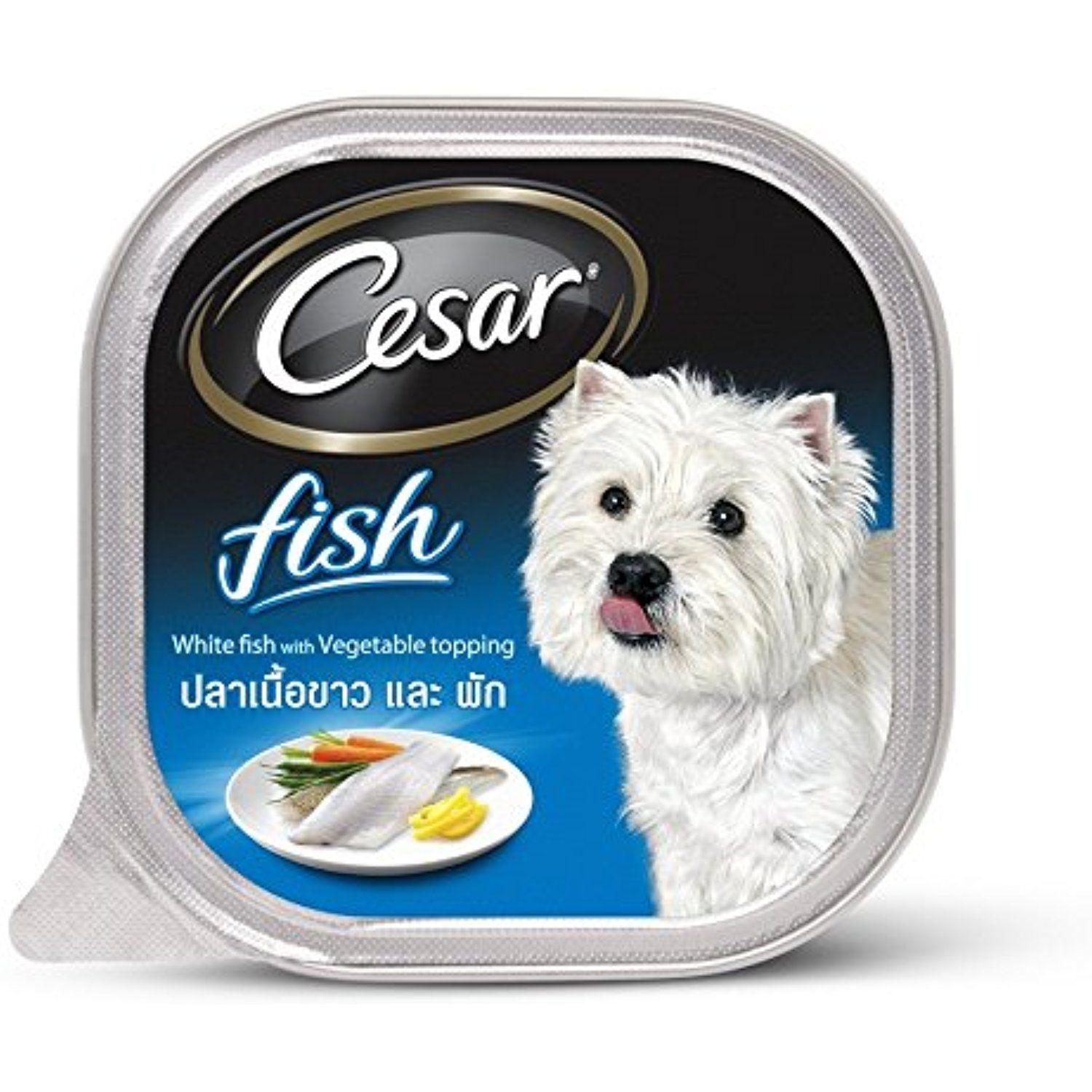 Dog Food Cesar White Fish & Vegetable. You can check