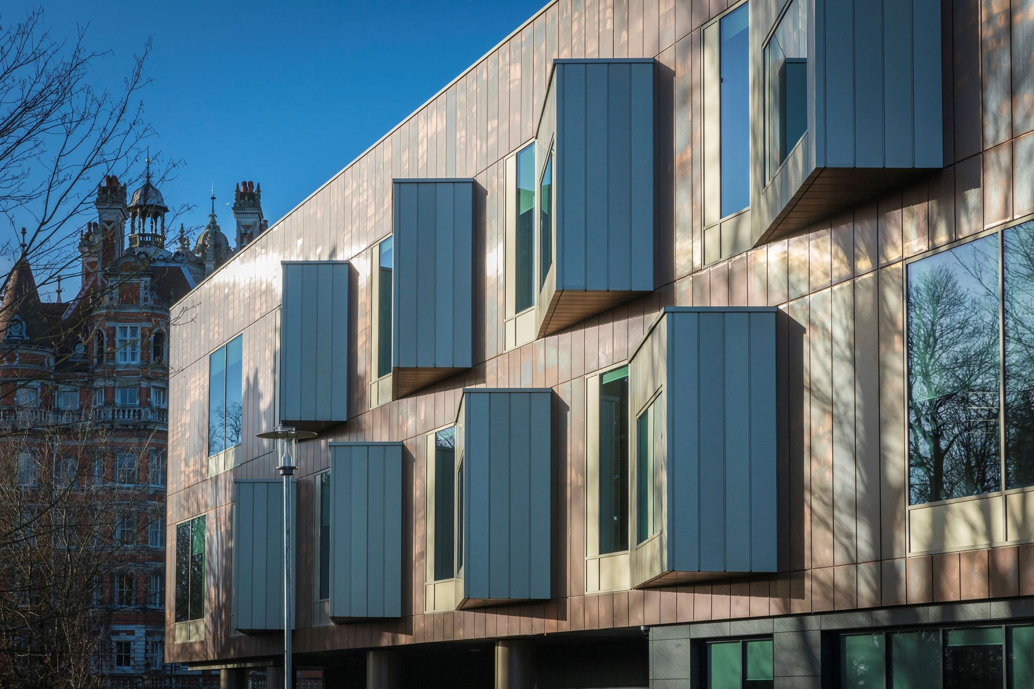The TECU Bronze #cladding specified by Associated Architects for the ...