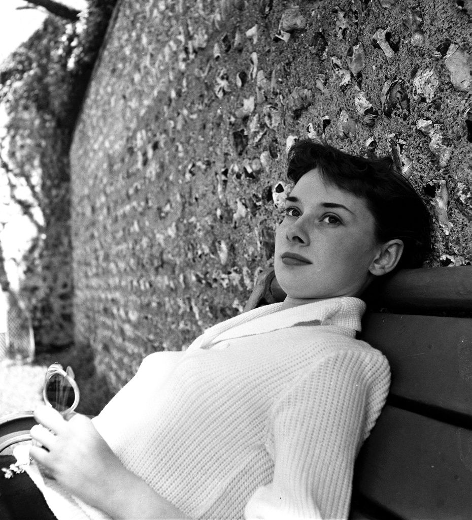Audrey Hepburn Pictured Relaxing In England, 1951