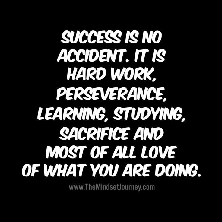 Success is no accident. It is hard work, perseverance ...