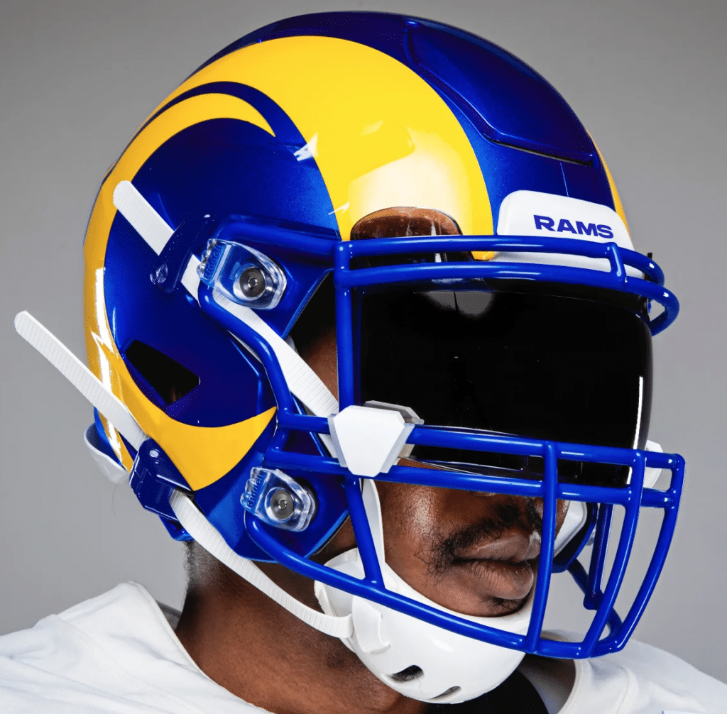 Boned A Close Look At The Rams New Uniforms In 2020 Rams New Uniforms Nfl Uniforms Football Helmets