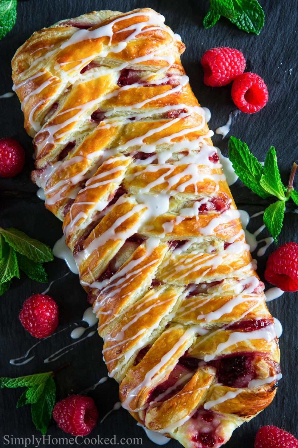 Easy Raspberry Cheese Danish Recipe - Simply Home Cooked