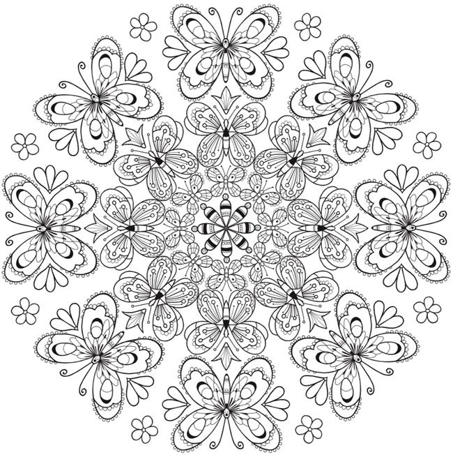 Welcome To Dover Publications Mandala Coloring Pages Butterfly Coloring Page Coloring Pages