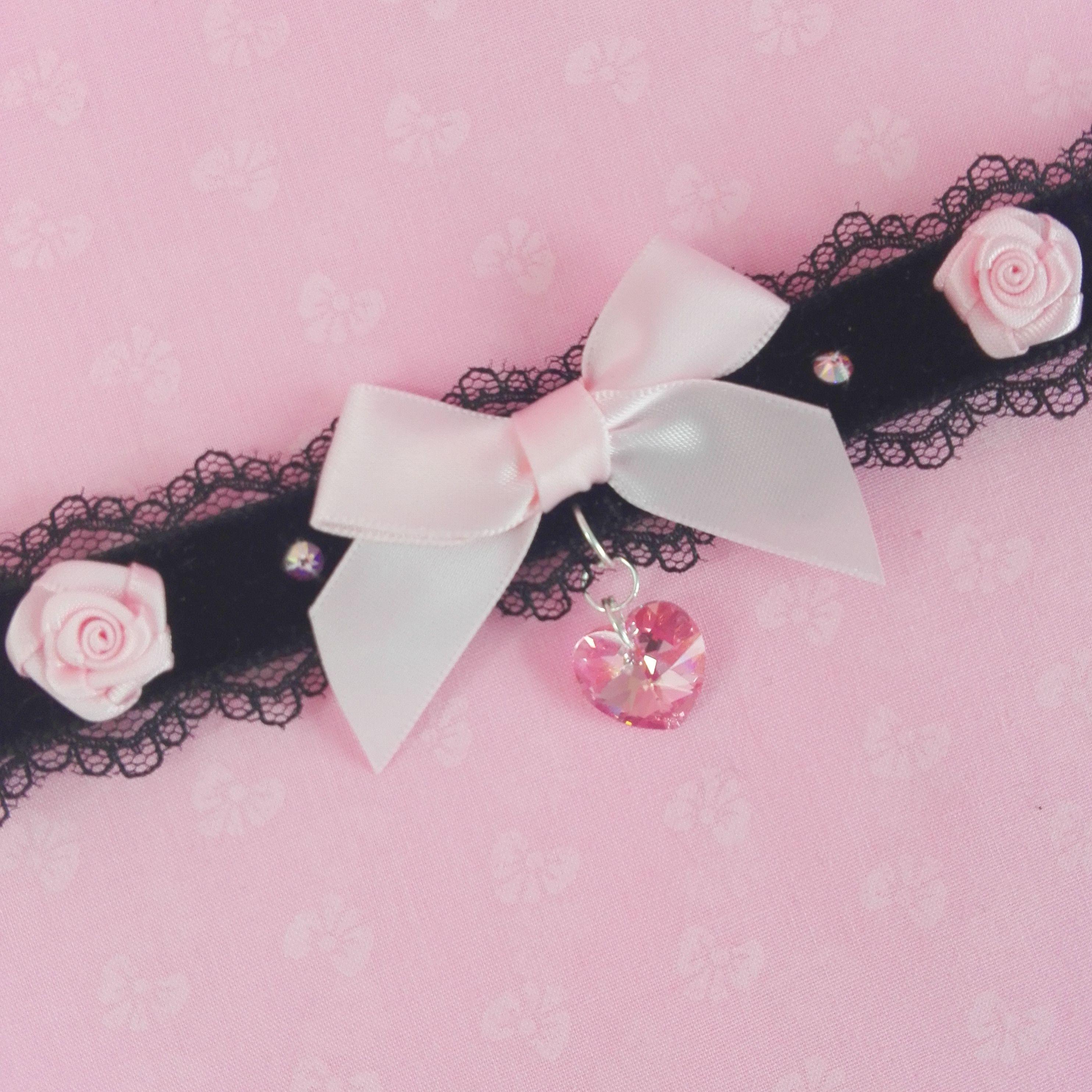 Peach Flamingo Kitten Play Collar In 2020 Kitten Play Collar Rose Gold Heart Peach Pink