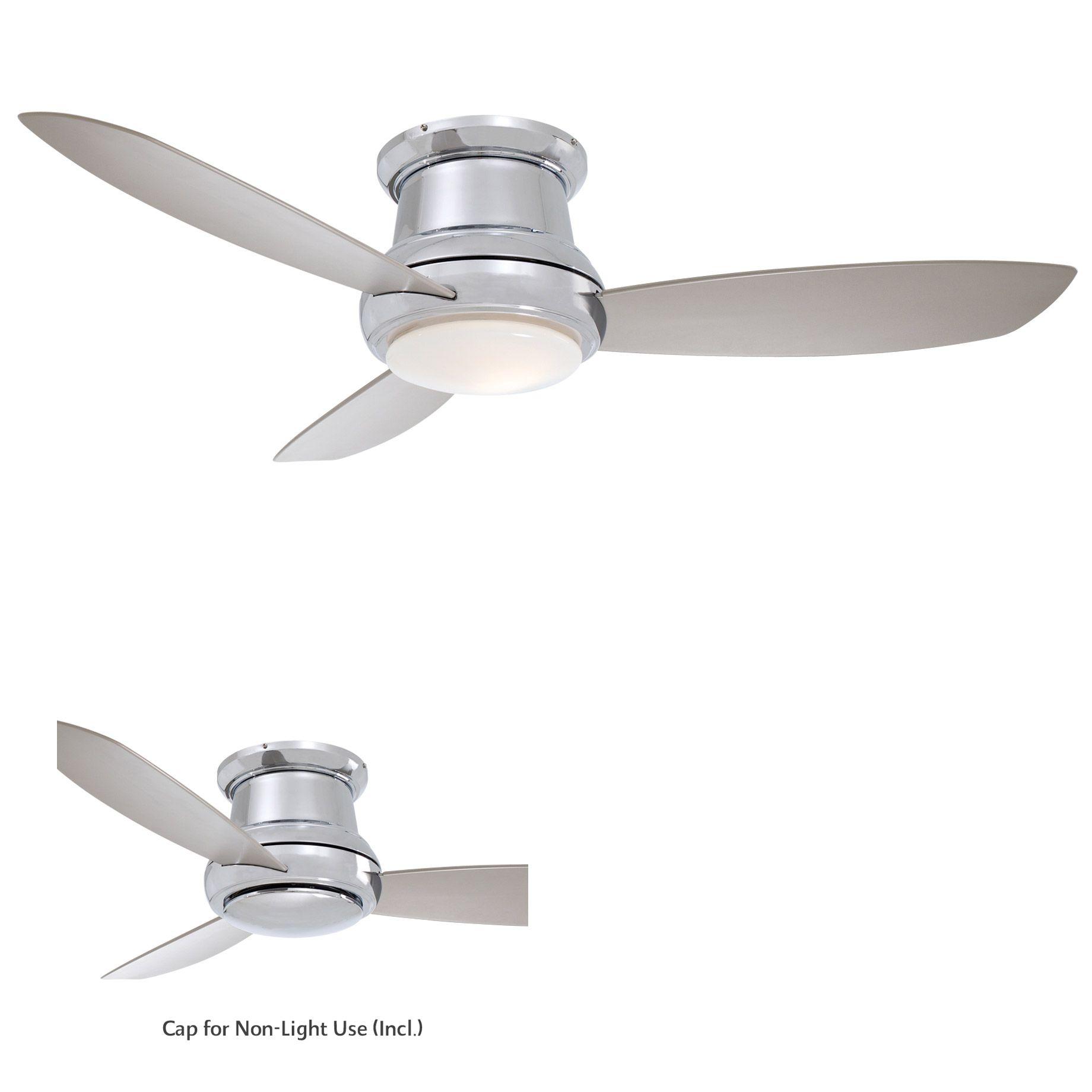Concept Ii Ceiling Fan With Light By Minka Aire F518l Bn Ceiling Fan Flush Mount Ceiling Fan Modern Ceiling Fan