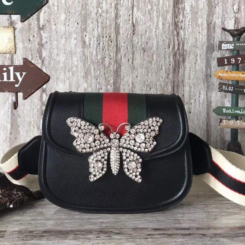 ea65095214e Gucci GucciTotem Small Shoulder Bag 505387 Black 2018