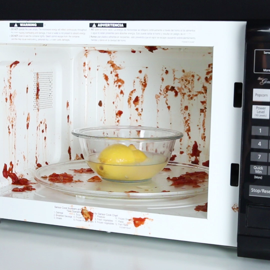 how to disinfect microwave