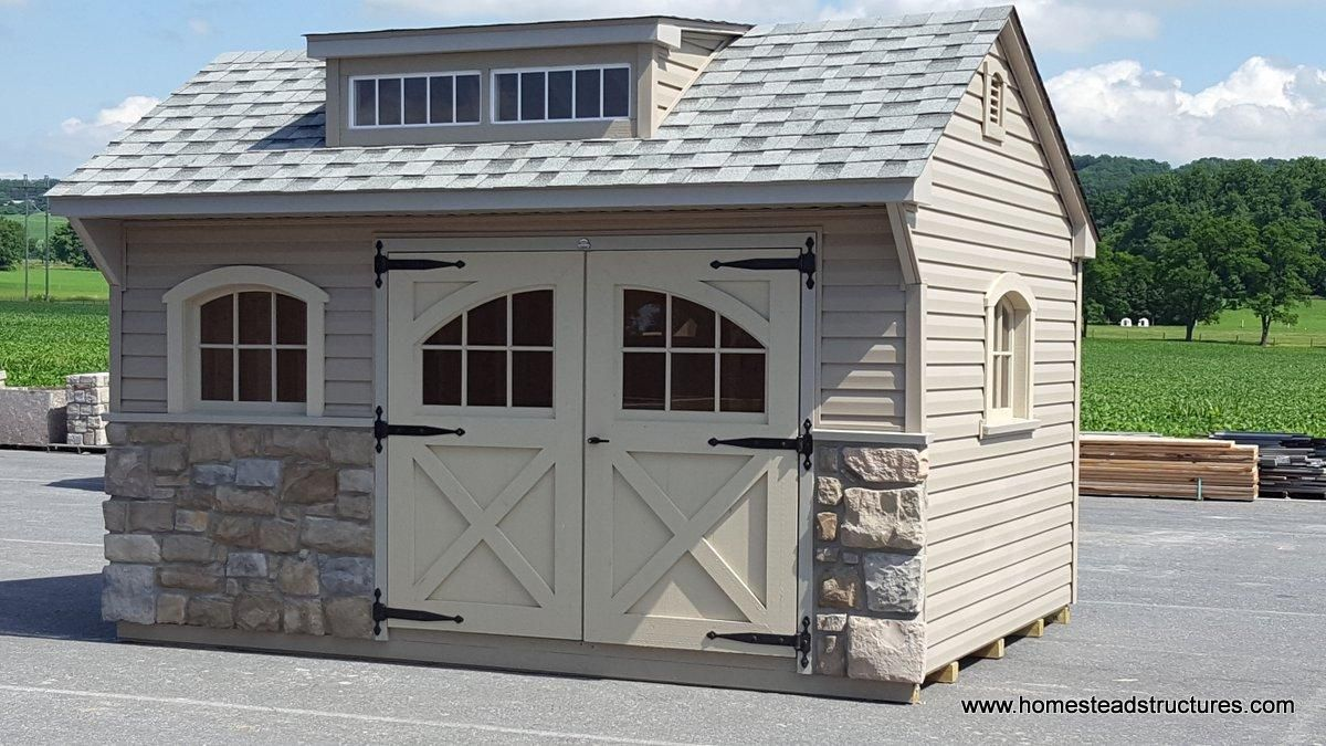 10 X 14 Vinyl Cape Cod Storage Shed White Grey And Charcoal Shed Architectural Shingles Siding Options