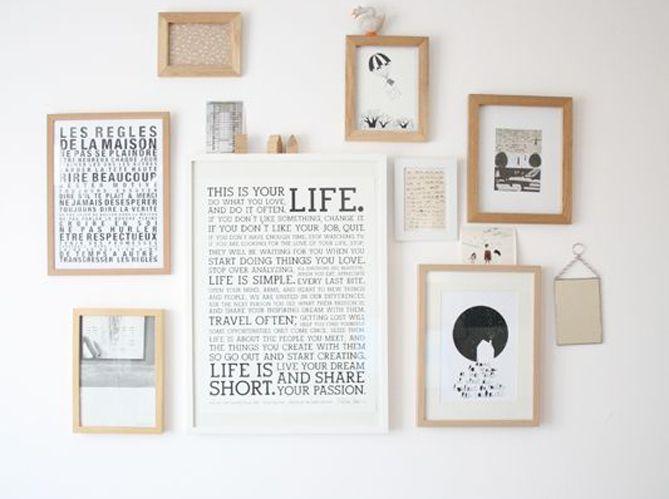 5 astuces faciles et pas ch res pour relooker sa chambre cadres mur deco bois et cadres. Black Bedroom Furniture Sets. Home Design Ideas