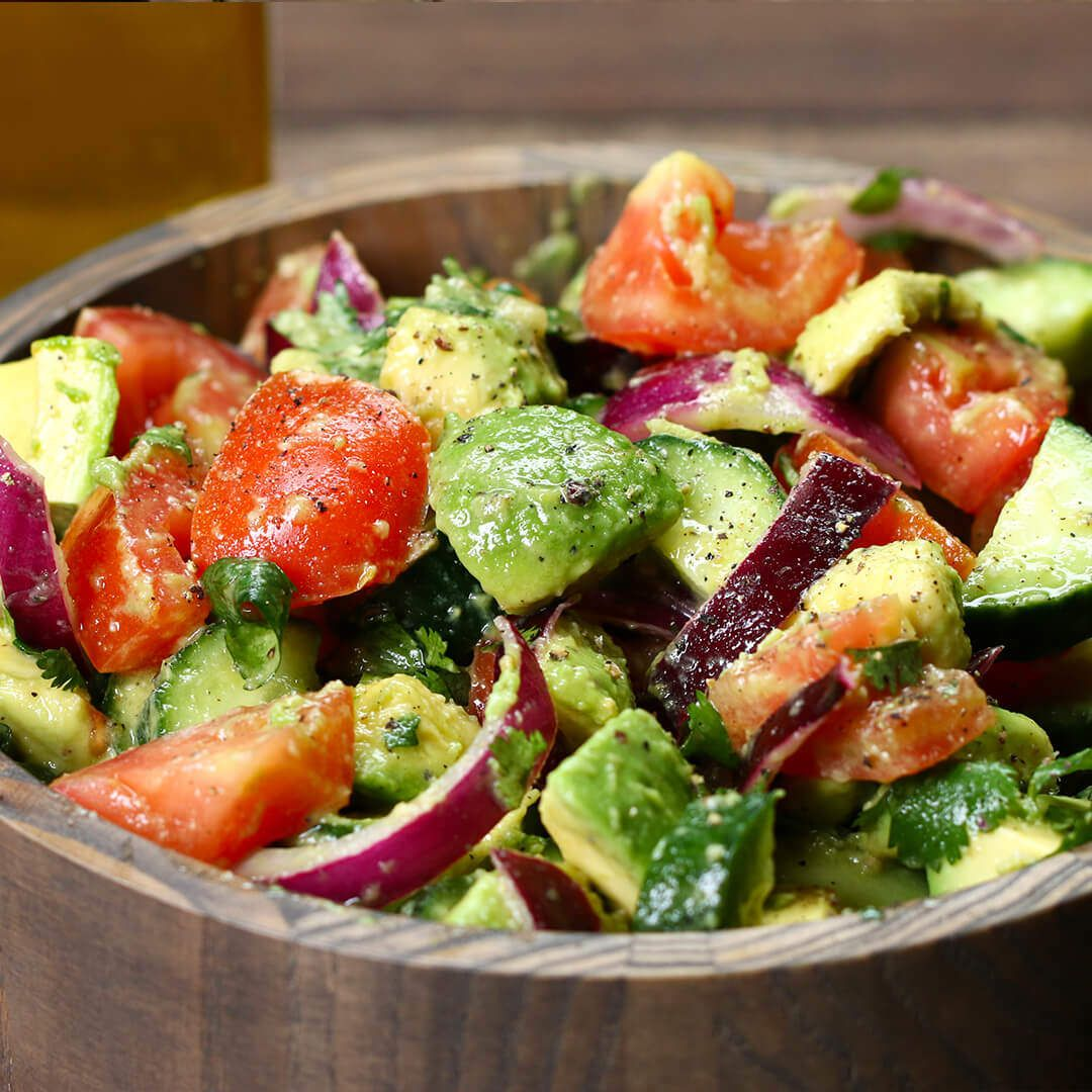 Avocado Tomato Cucumber Salad in 5 minutes - Daisy