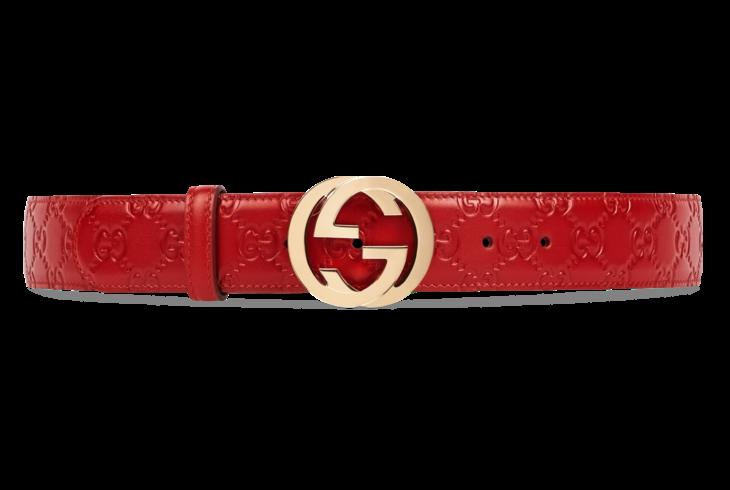 in vendita 4872e 52890 Gucci - Cintura in pelle Gucci Signature con fibbia GG ...