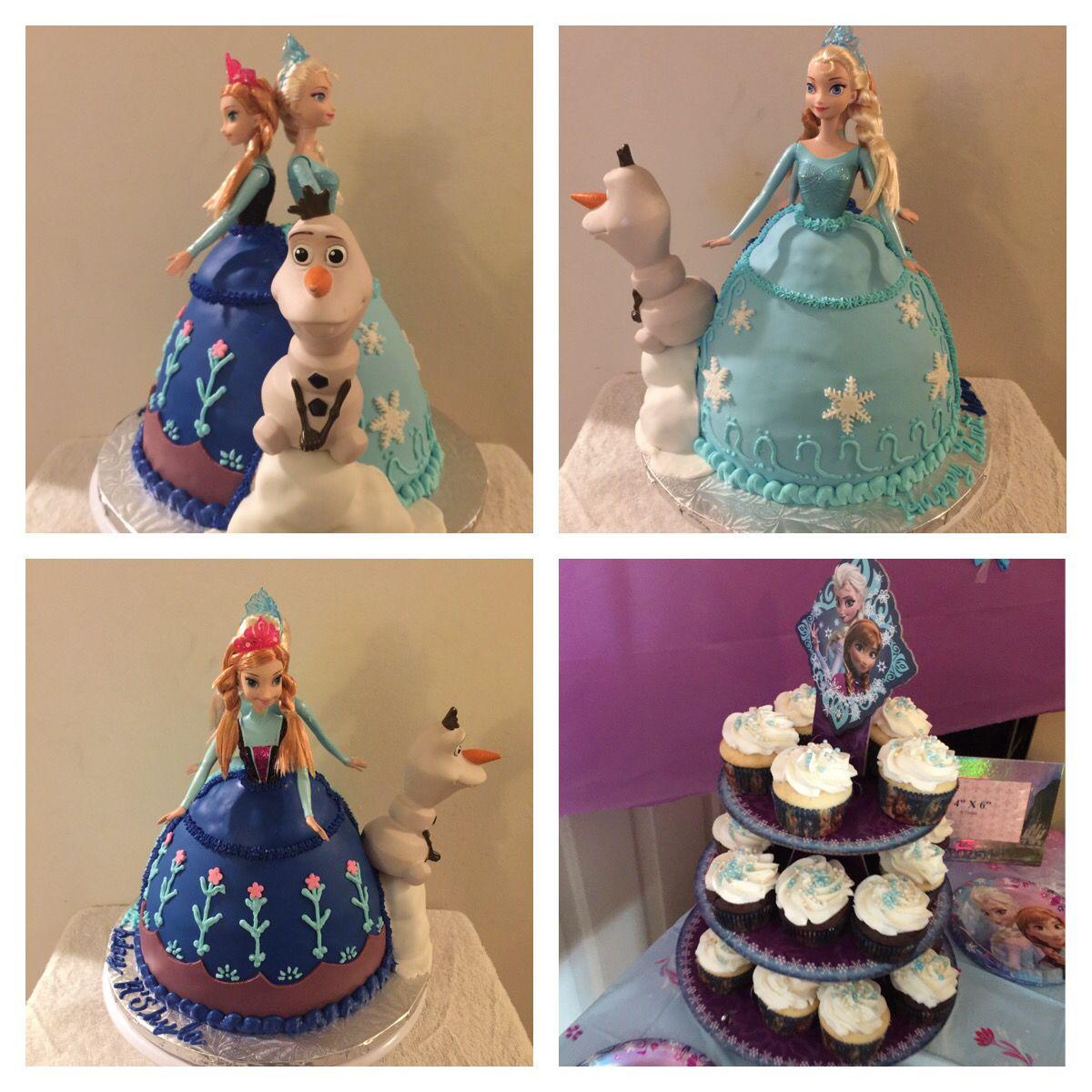 Todays cake work Anna Elsa Frozen birthday cake cake cupcakes