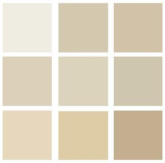Benjamin moore swiss coffee oc 45 hush af 95 shaker for Clay beige color combinations