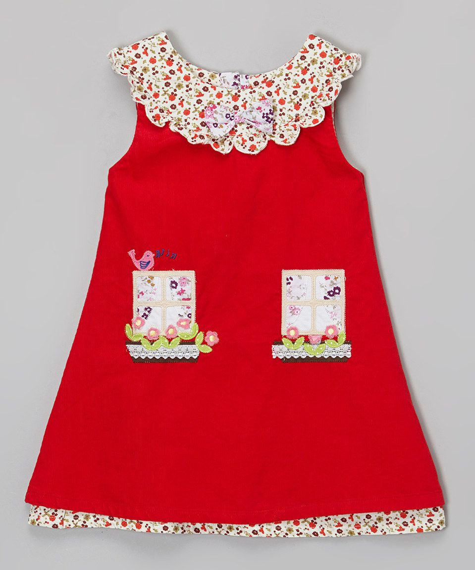 Girls Powell Craft Blue Corduroy Dress Pinafore 1-2 Years